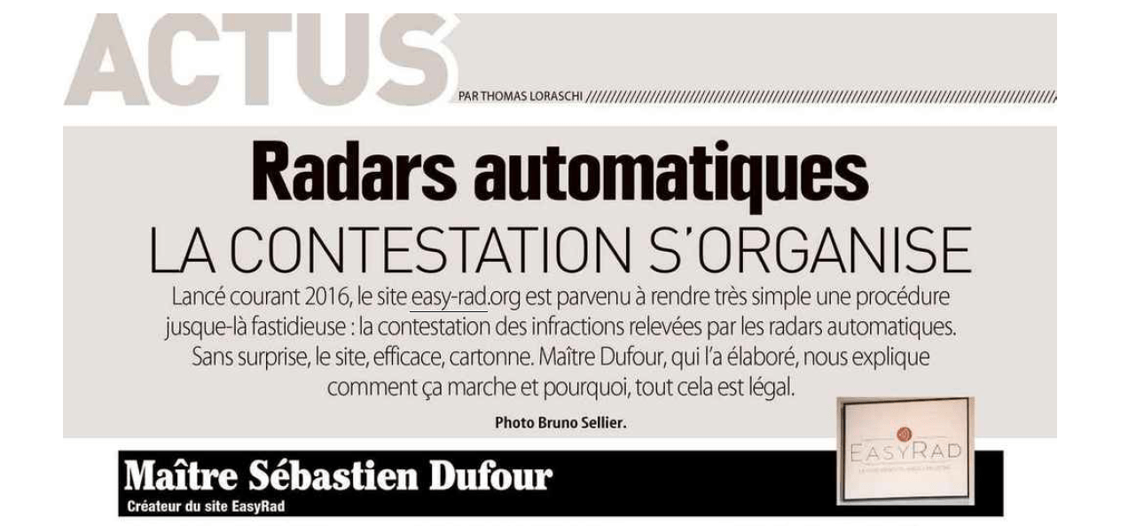 Radars automatiques : la contestation s'organise – Maître Dufour répond aux questions de Moto Revue